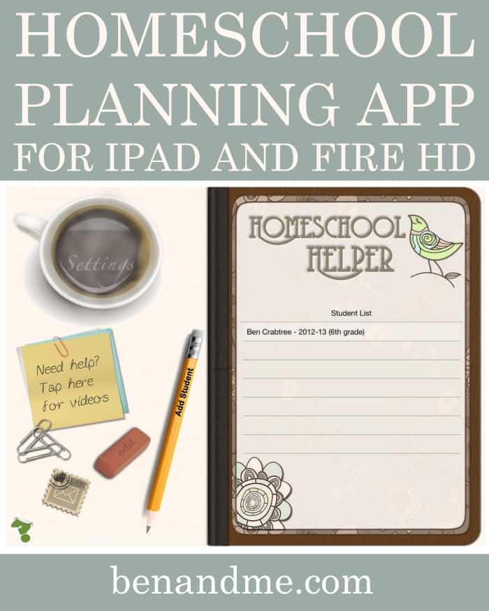 Homeschool Planning App for iPad