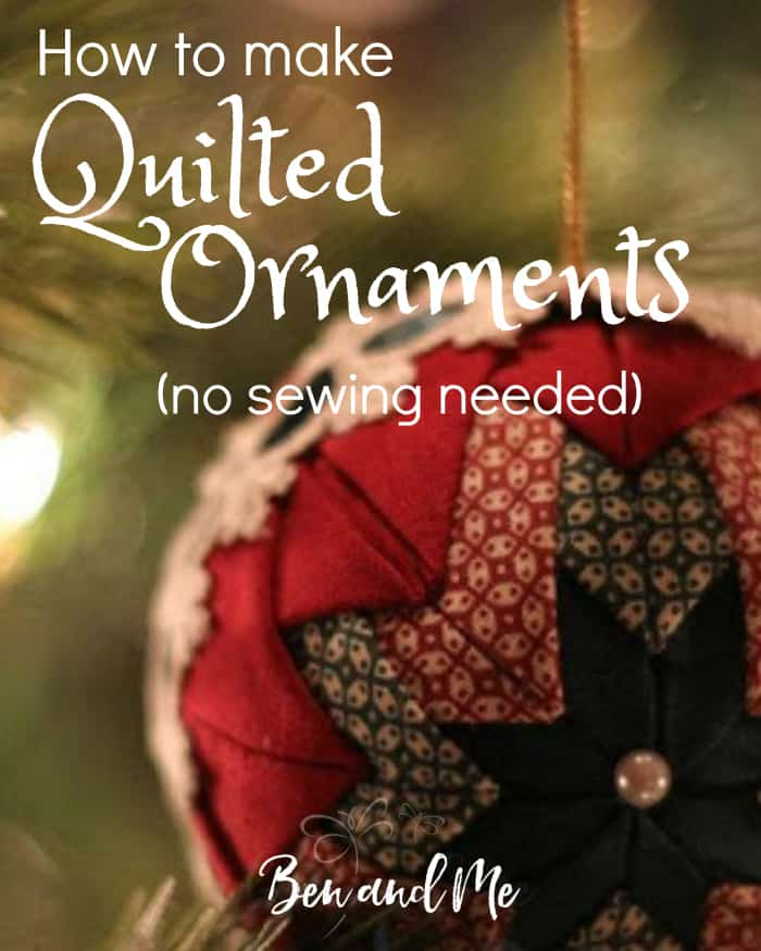 how to make handmade quilted ornaments quilted ornaments tutorial ben and me 5670