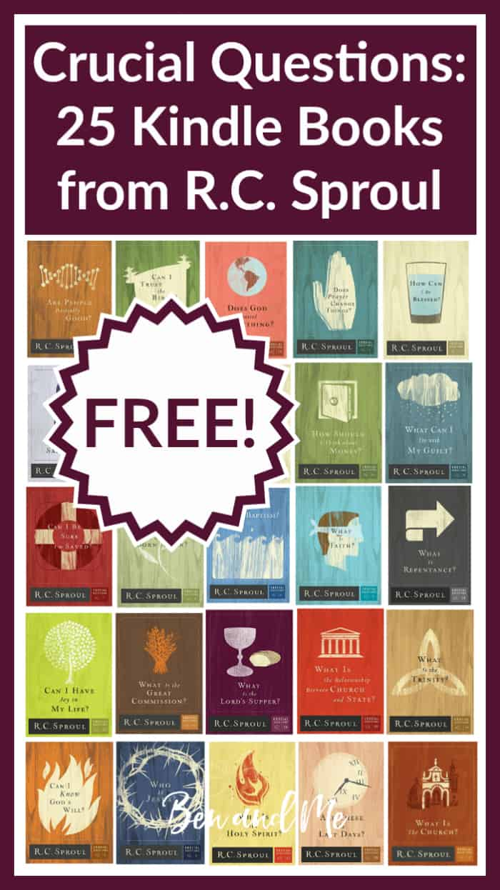 "Crucial Questions 25 FREE Kindle Books from R. C. Sproul -- list of 25 free books for Kindle from the ""Crucial Questions"" series of Christian apologetics books by R.C. Sproul. This series can help Christians know what they believe, why they believe it, how to live it, and how to share it. Sproul's ministry, Ligonier Ministries has made these books free forever."