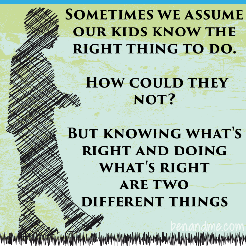 knowing what's right and doing what's right are two different things