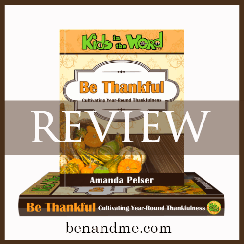 Cultivating Thankfulness (a review of Be Thankful by Amanda Pelser)