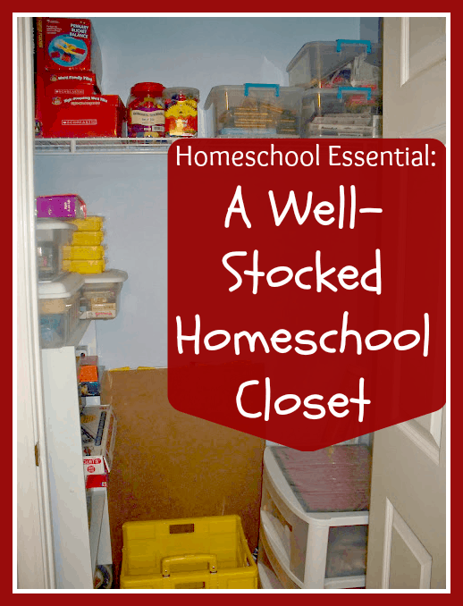 If you homeschool in a child-led manner, it is  necessary to be prepared for just about anything. One thing you can do to make sure your kids have whatever they need on any given day is keep a well-stocked homeschool closet.