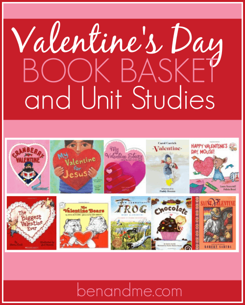 valentine's day book basket