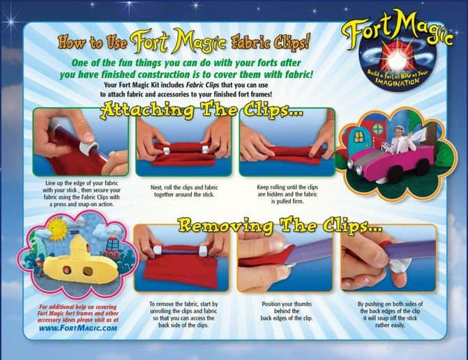 fort magic fabric clips
