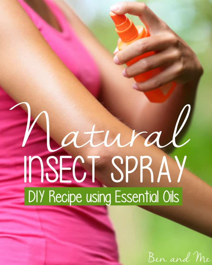 Natural Insect Spray - a DIY recipe using essential oils
