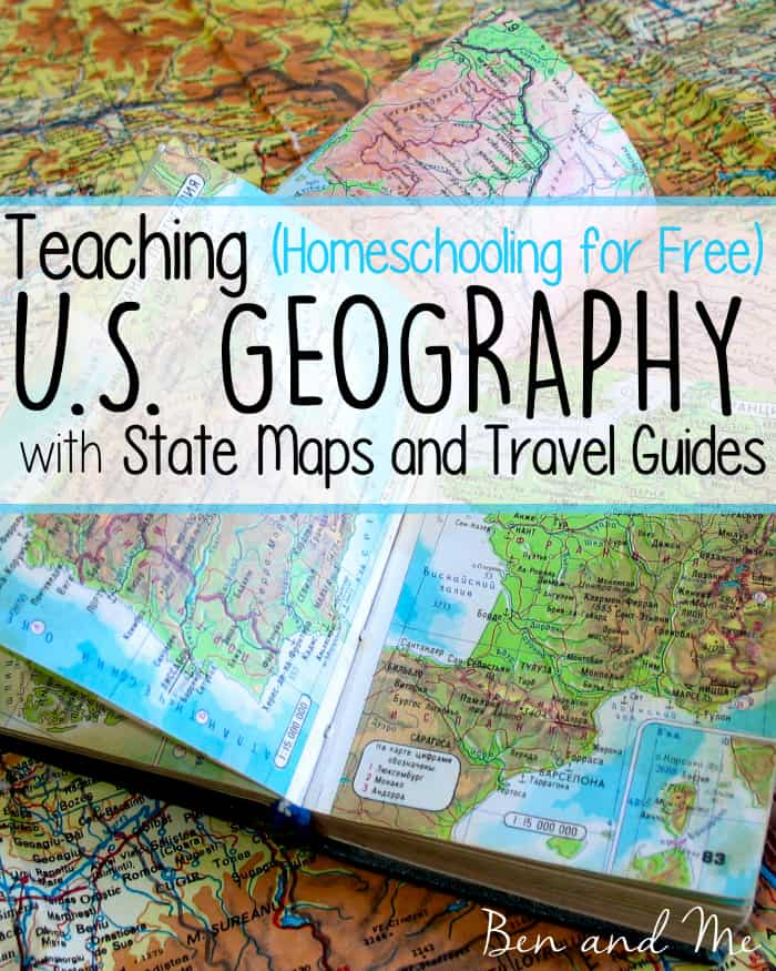 Teaching U.S. Geography with State Maps and Travel Guides