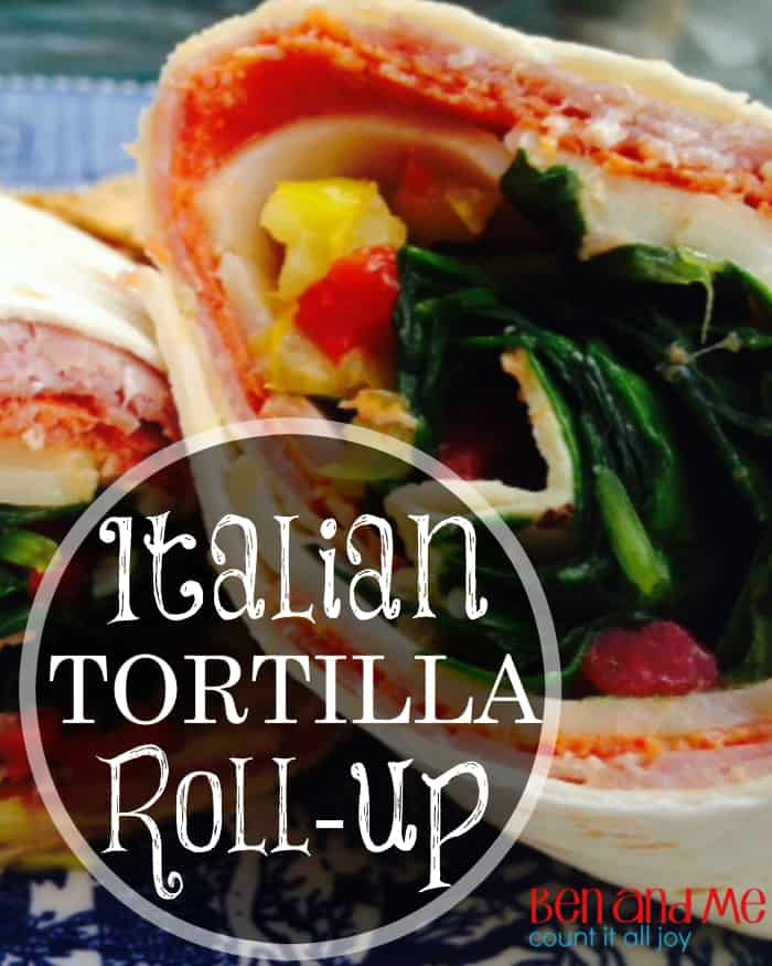 This Italian Tortilla Roll-up Recipe is easy enough for kids to make and delicious, too!