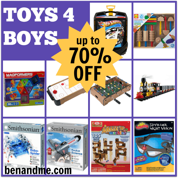 Up to 70% off on Toys for Boys and Girls!
