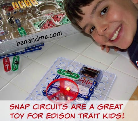 Snap Circuits are a great toy for Edison trait kids!