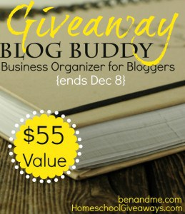 Blog Buddy Giveaway