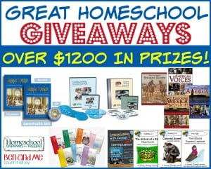 Great Homeschool Giveaways with over $1200 in prizes!