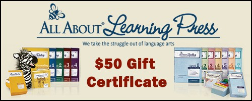 All About Learning Press $50 Gift Certificate