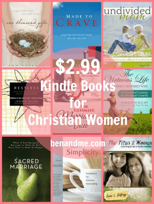 12 Kindle Books for Christian Women