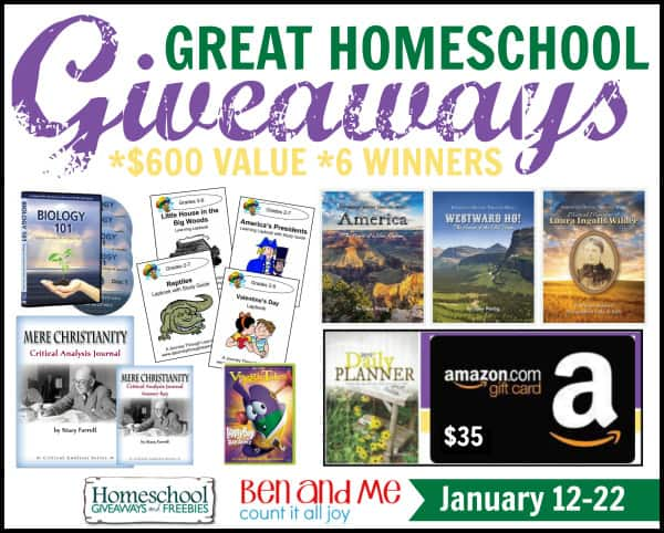 Great Homeschool Giveaways January 2015 - 2