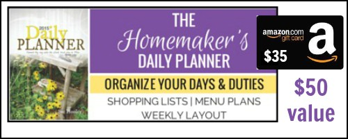 Homemaker's Daily Planner Giveaway