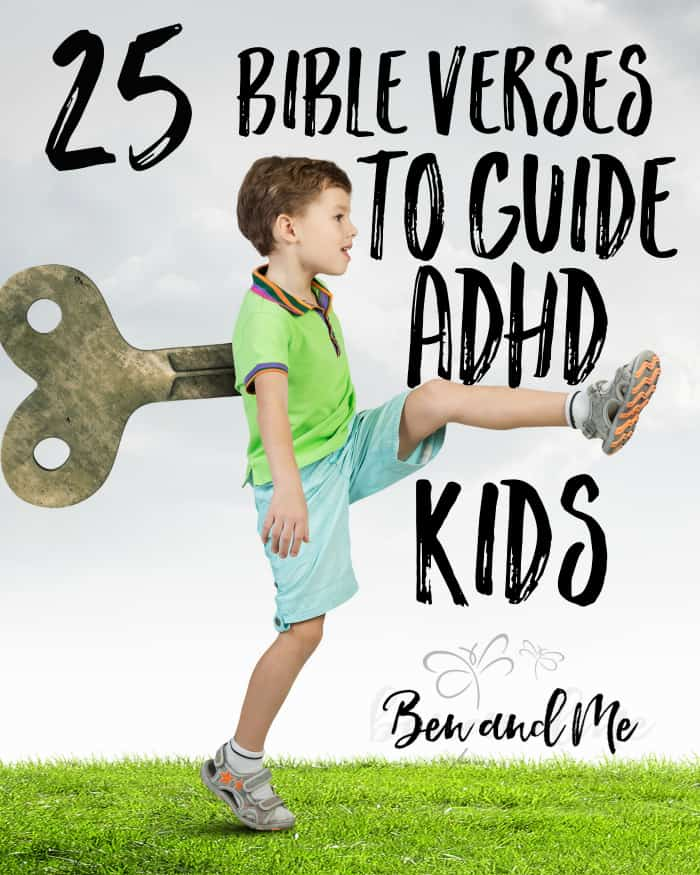 Here are a few Bible verses you can use with your ADHD kids to help guide them and counter some of the negative behaviors