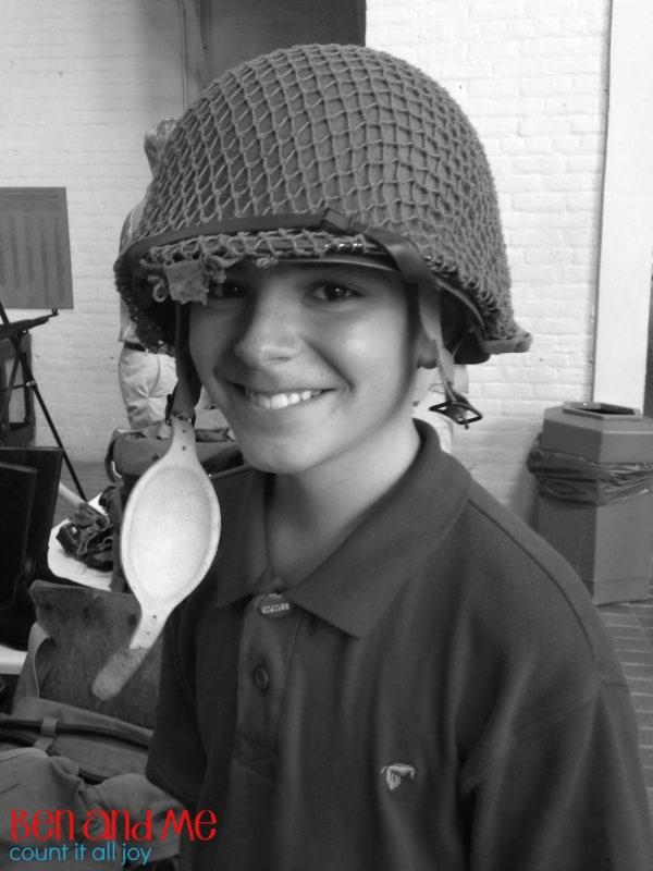 Ben at WW 2 Museum