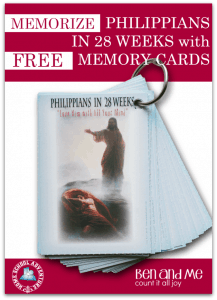Memorize Philippians in 28 Weeks with FREE Memory Cards