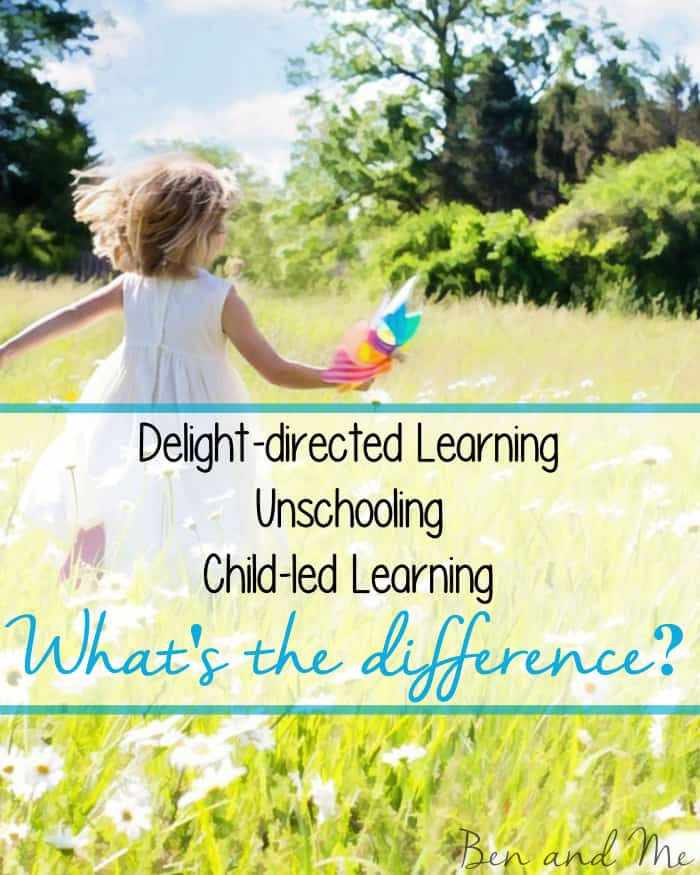 "A common question I hear is this one: ""Is delight-directed learning the same as unscooling or child-led learning?"" The short answer to that question is no."