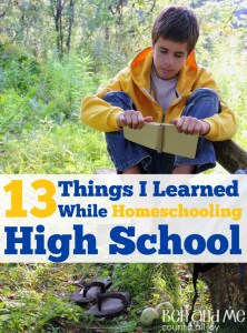 13 I Learning While Homeschooling High School