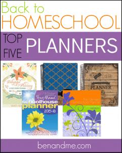 Back to Homeschool Top Five Homeschool Planners
