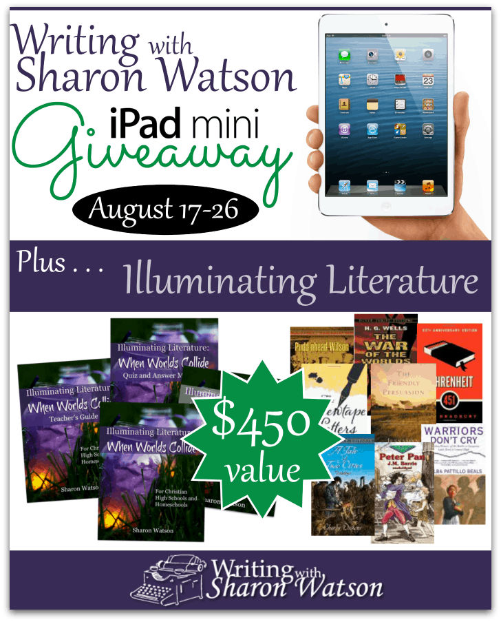 Writing with Sharon Watson Illuminating Literature iPad Mini Giveaway