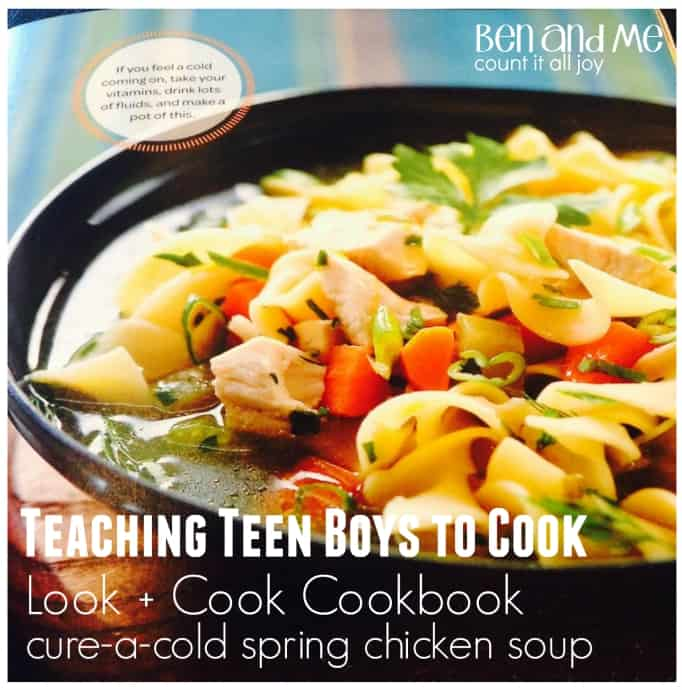 Teaching Teen Boys to Cook with Rachael Ray's Look + Cook Cookbook