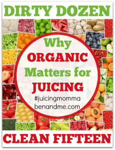 Why Organic Matters for Juicing: The Dirty Dozen and Clean Fifteen