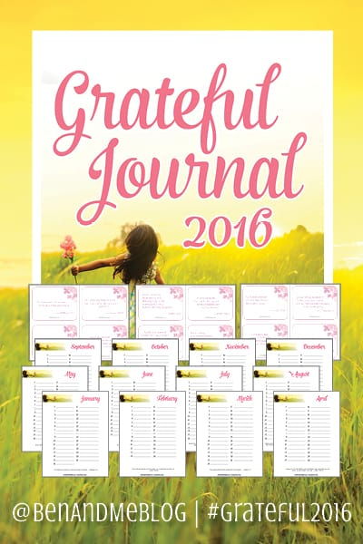 Grateful Journal 2016 — FREE download with monthly journal pages and Scripture memory cards