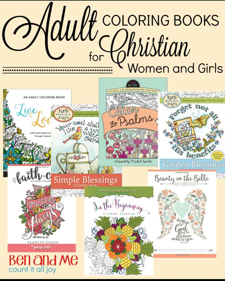 adult coloring books for christian women and girls - Color Books For Adults
