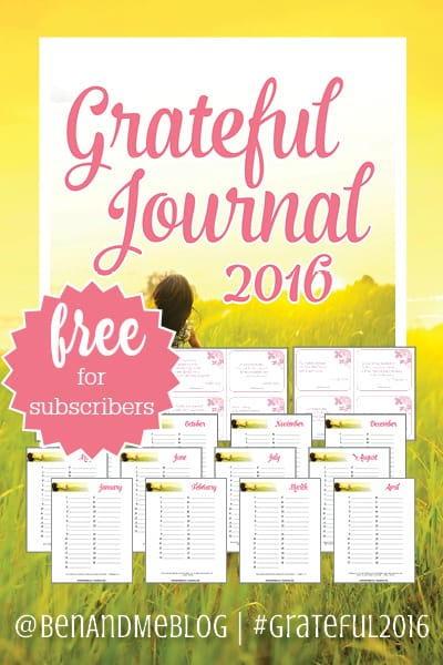 Grateful Journal 2016
