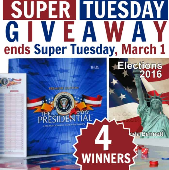 Super Tuesday Elections Giveaway (4 winners)