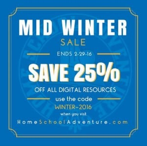 Home School Adventure 25% off Sale