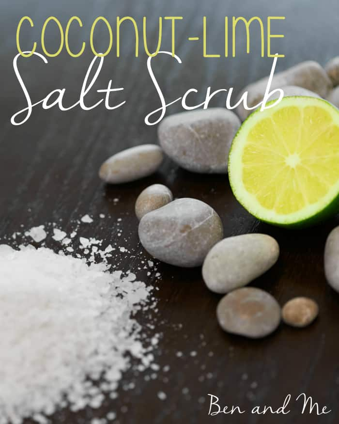 Coconut-Lime Salt Scrub