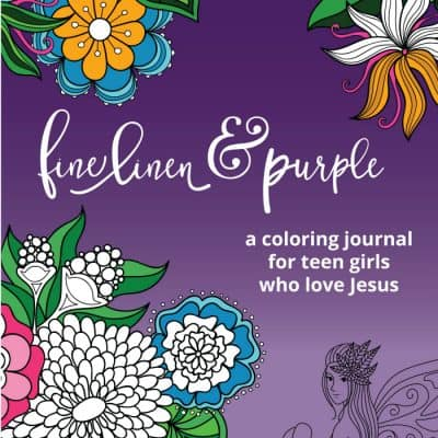 Introducing — Fine Linen and Purple: a coloring journal for teen girls who love Jesus