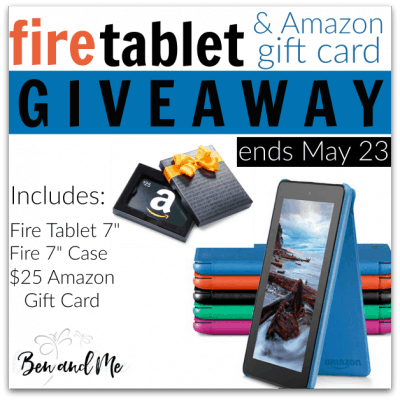 fire Tablet and $25 Amazon Gift Card Giveaway — ends May 23
