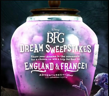 The BFG Dream Sweepstakes