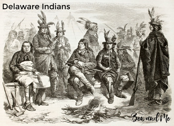American civil war: Delaware Indians (Lenape) enrolled in Federal army. Created by Worms, published on L'illustration, Journal Universel, Paris, 1863