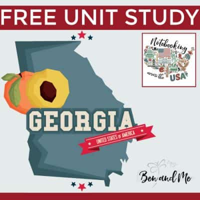 Notebooking Across the USA: Georgia Unit Study