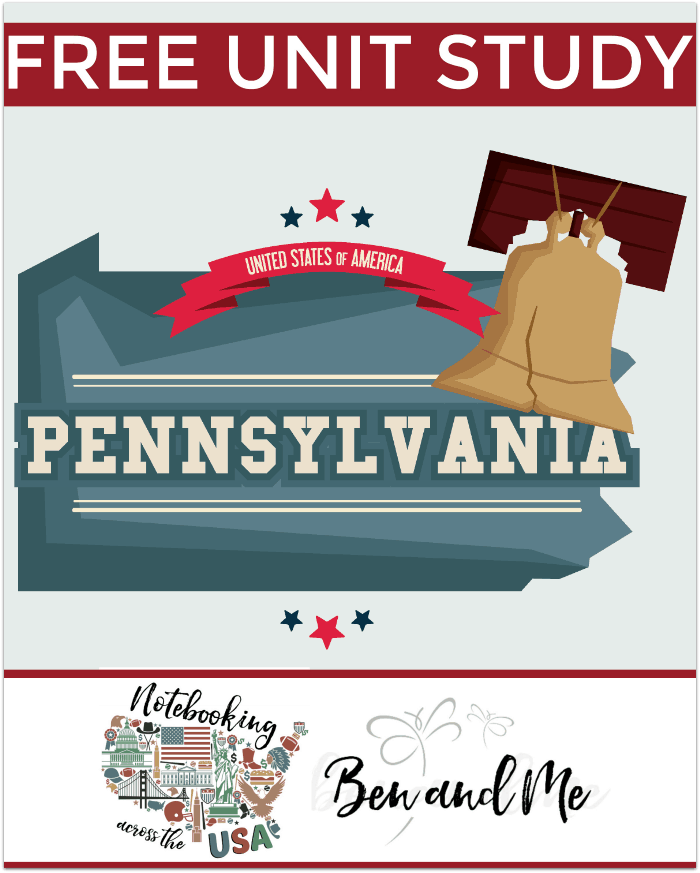 "Come learn about the ""Keystone State"" in this Pennsylvania Unit Study -- part of the Notebooking Across the USA series from Ben and Me."