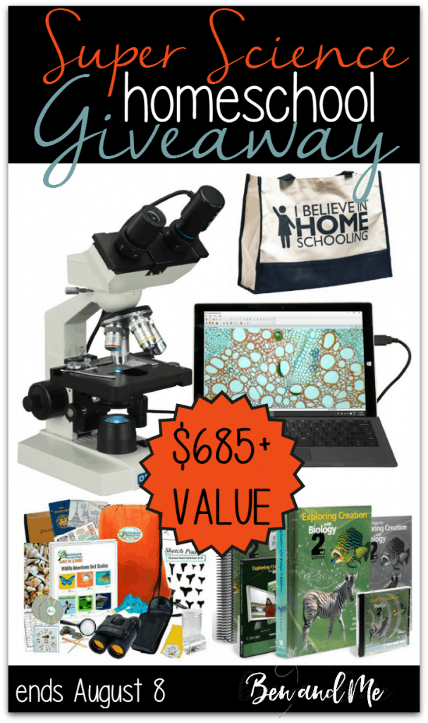 Super Science Homeschool Giveaway -- win a microscope with digital camera, Apologia Biology, and more!