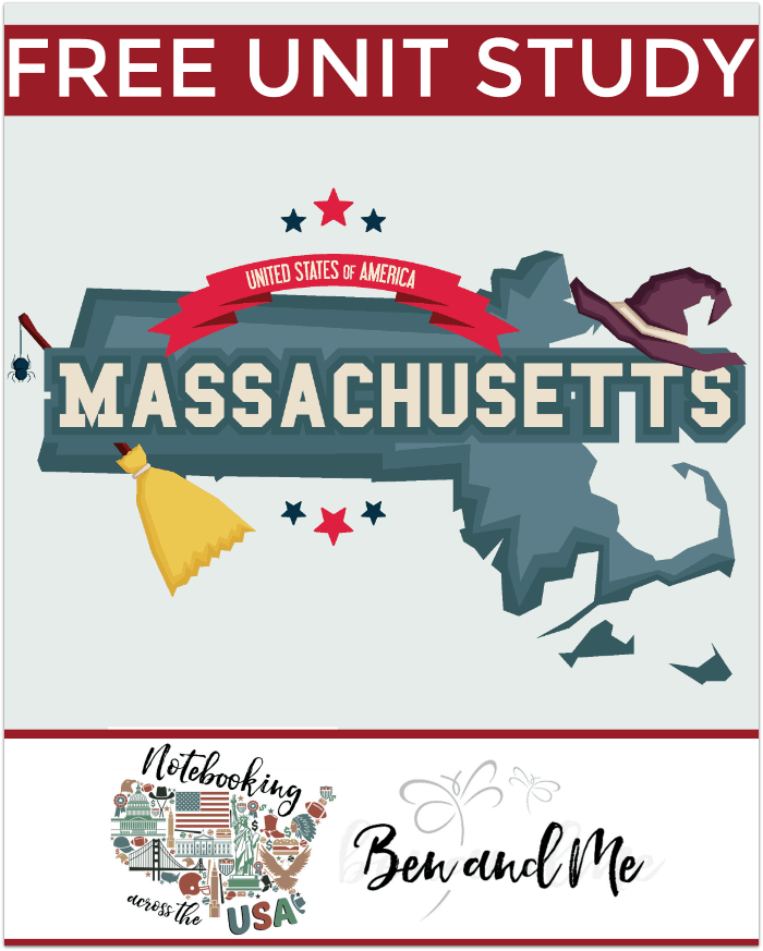 "FREE Massachusetts Unit Study for grades 3-8 -- come learn about the ""birthplace of the American Revolution"" in this 6th installment of the Notebooking Across the USA series for homeschool families!"