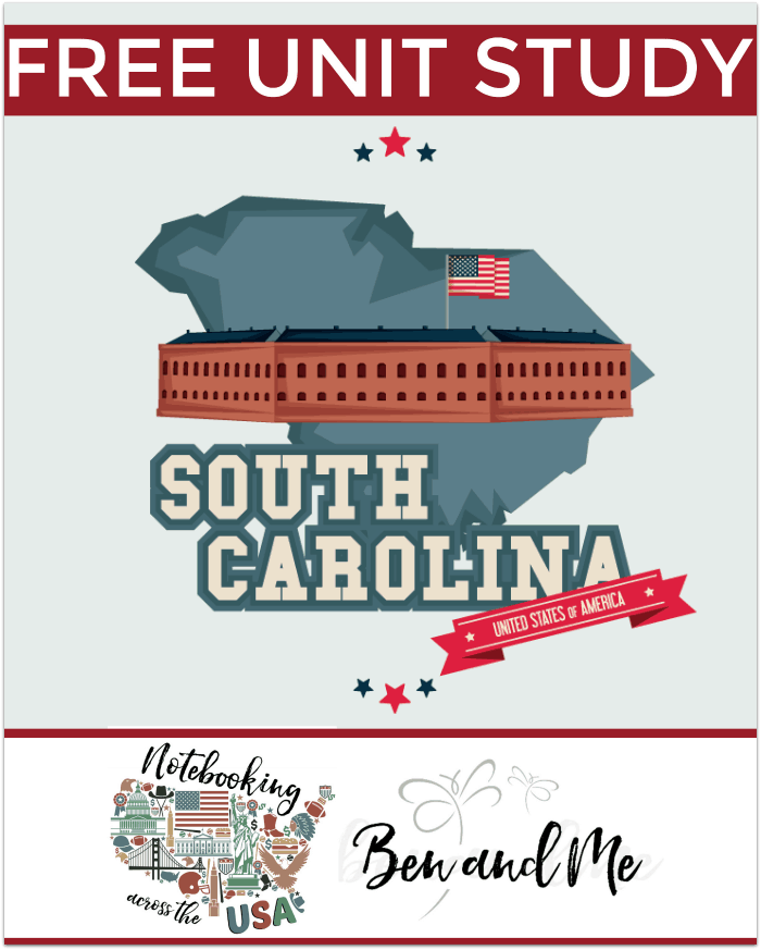 "Free South Carolina Unit Study -- FREE South Carolina Unit Study for grades 3-8-- learn about the ""Palmetto State"" in this 6th installment of the Notebooking Across the USA."
