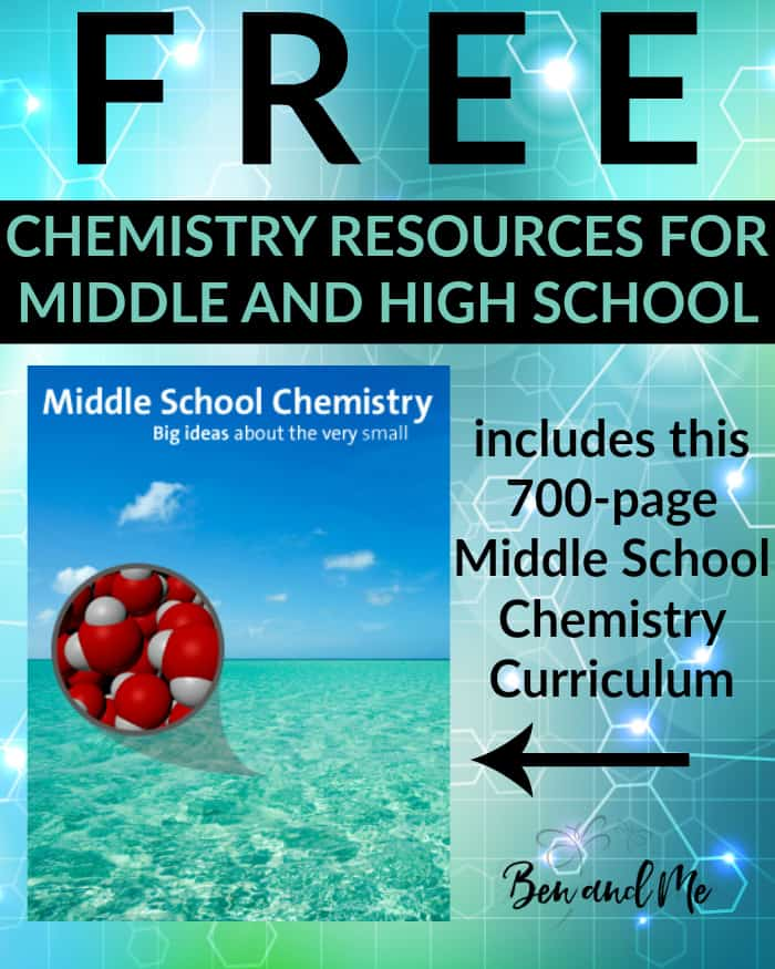 FREE Chemistry Resources for Middle and High School - Homeschool chemistry for middle and high school for free with this list of resources available online.