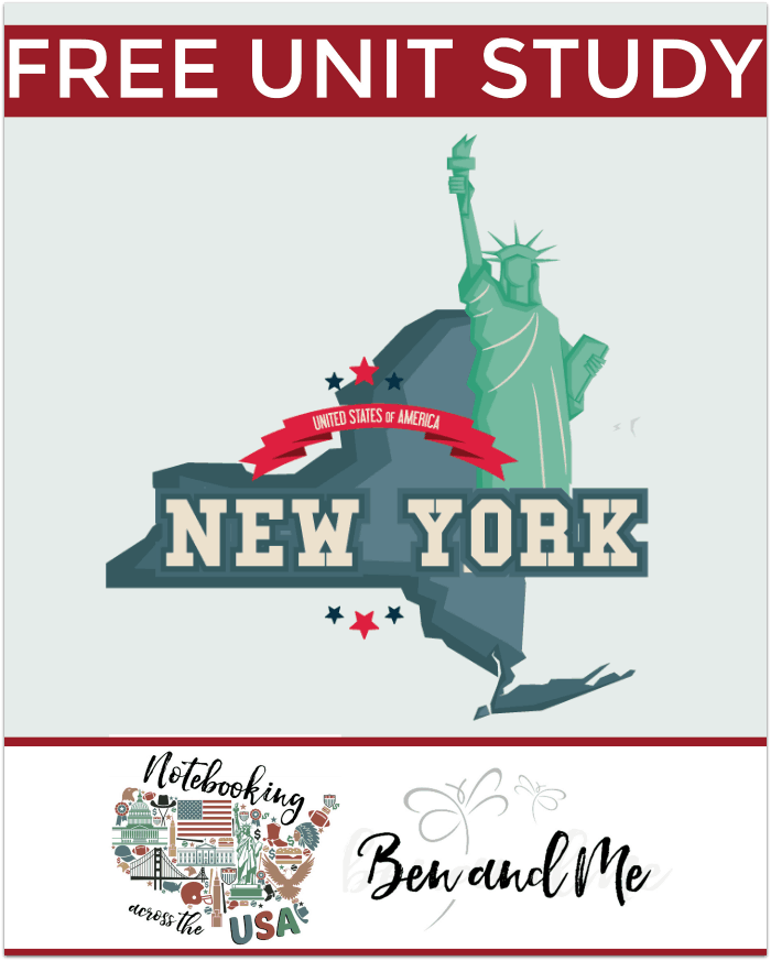 "FREE New York Unit Study for grades 3-8 -- learn about the ""Empire State"" in this 10th installment of Notebooking Across the USA."