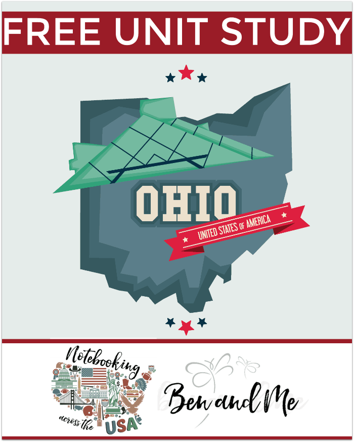"FREE Ohio Unit Study for grades 3-8 -- learn about the ""Buckeye State"" in this 17th installment of Notebooking Across the USA."