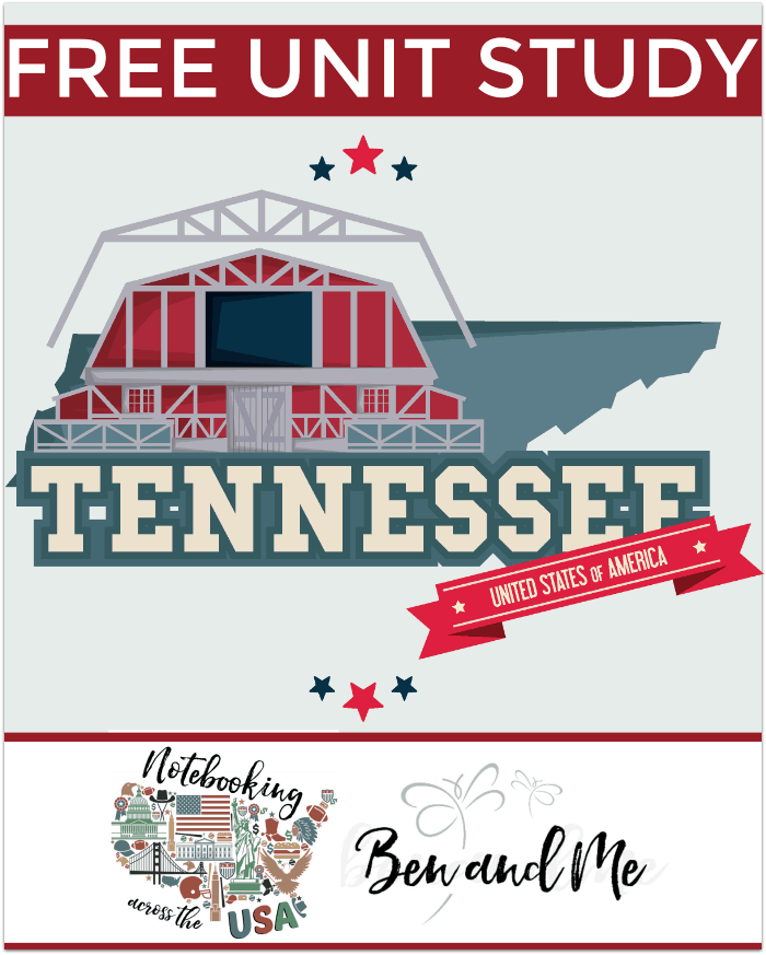 "FREE Tennessee Unit Study for grades 3-8 -- learn about the ""Volunteer State"" in this 16th installment of Notebooking Across the USA."