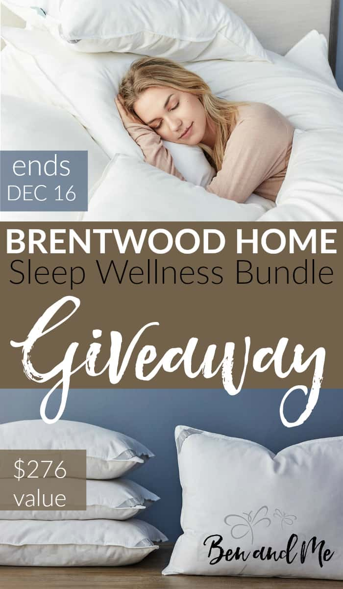 Enter to win the Sleep Wellness pillow bundle from Brentwood Home, valued at $276. Ends December 16.