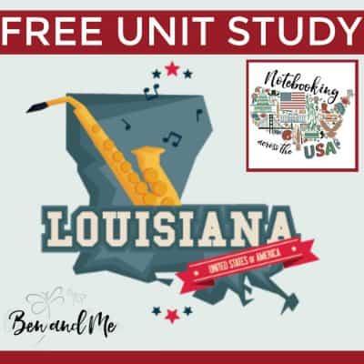 Notebooking Across the USA: Louisiana Unit Study