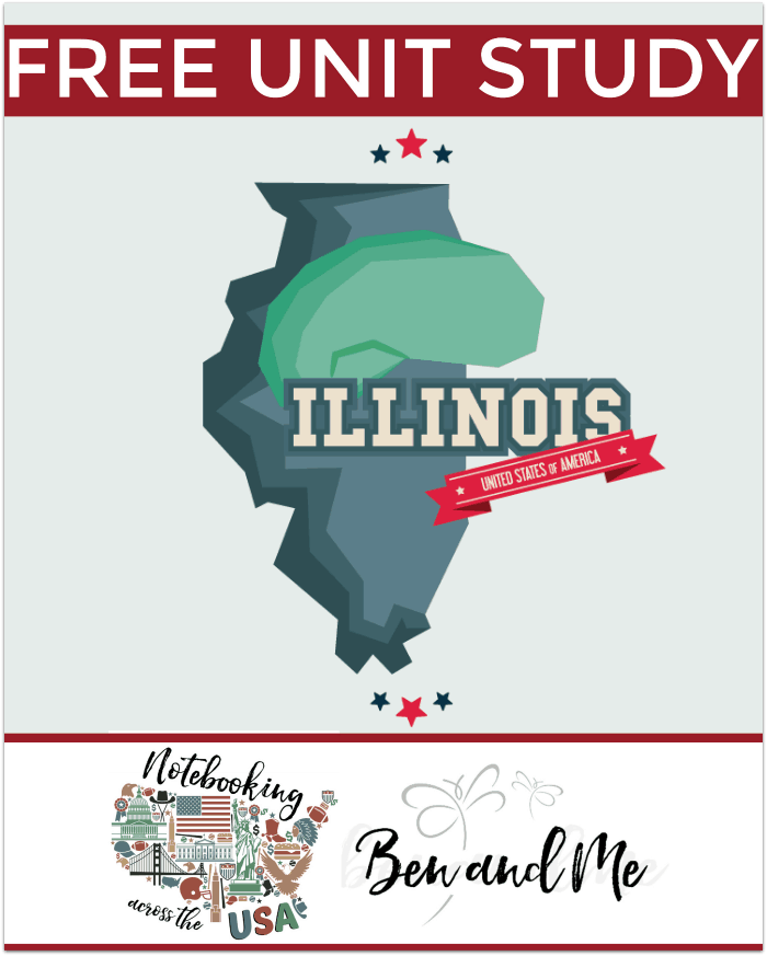 "FREE Illinois Unit Study for grades 3-8 -- learn about the ""Prairie State"" in this 21st installment of Notebooking Across the USA."